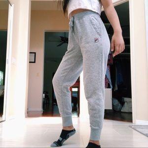 FILA Gray Jogger Sweatpants Medium